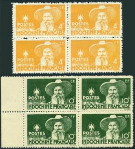 Indo-China 245-246 blocks/4,MNH.Mi 323,326. Auguste Pavie,French explorer,1944.