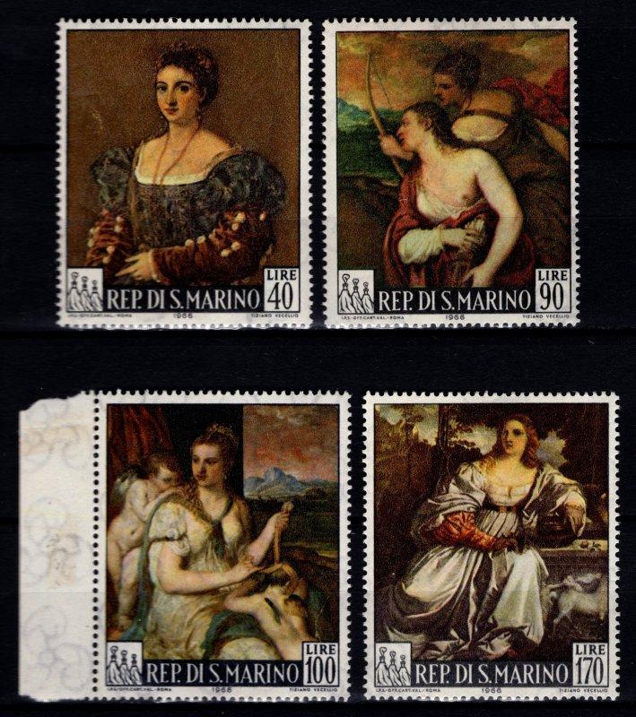 San Marino 1966 Paintings by Titian, Set [Unused]