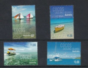 CK28) Cocos Keeling Island 2011 Boats MUH