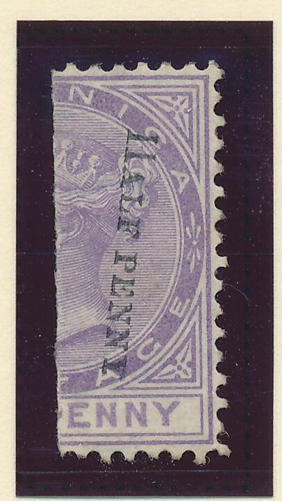 Dominica Stamp Scott #11a, Mint Hinged, Partial Gum, Overprint Reading Down -...