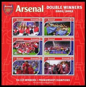 2002 Grenada 5053-58KL Arsenal Football Club 9,00 €
