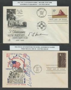 POLITICIANS 1960s (6) DIFF SIGNED ON COVERS RETAIL $245 BU7051