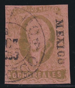 Mexico 1861 SC 12 Used