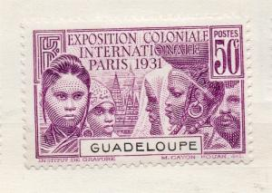 Guadeloupe 1928 Early Issue Fine Mint Hinged 50c. 135186