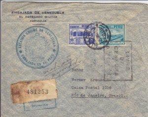 1944, Lima, Peru to Rio de Janeiro, Brazil, Censored, See Remark (C3556)