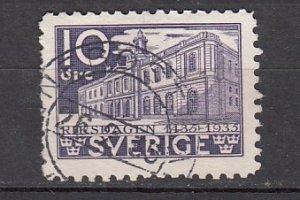 J26397  jlstamps 1935 sweden hv of set used #240 stock exchange