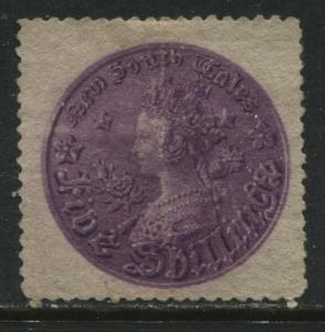 New South Wales QV 1872 5/ royal purple perf 13 unused no gum