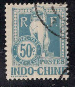 French Indo-China Scott J13 Used 1908 Angkor Wat Postage due
