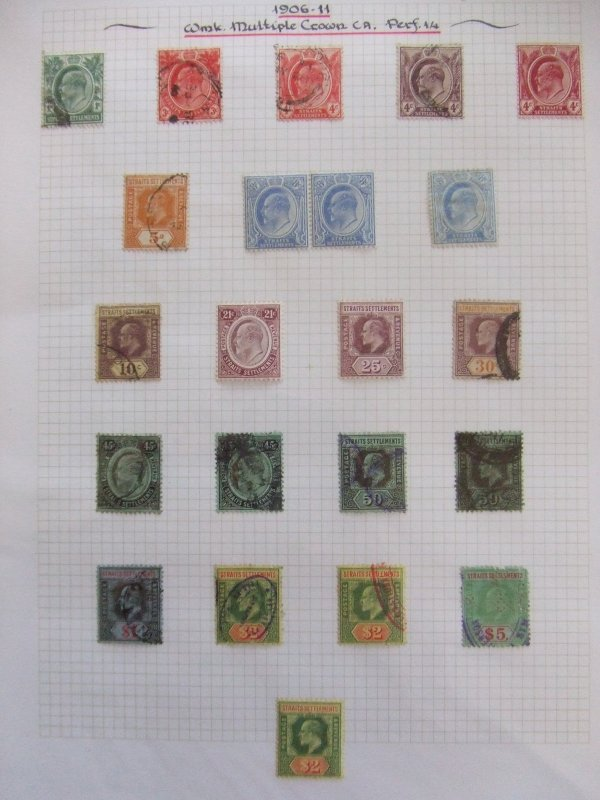 Straits EVII 1906 set to $5 mint & used #1