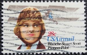 US #C99, Used Single, Blanche Stuart Scott, SCV $.25 L3