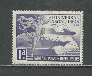 Falkland Islands Dependencies Scott catalog # 1L14 Unused HR