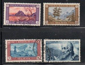 Switzerland Sc B49-52 1929  Pro Juventute views stamp set used