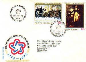 Romania, First Day Cover, Art, Americana