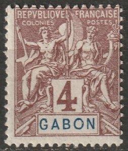 Gabon 1904 Sc 18 Yt 18 MH*