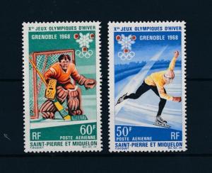 [44978] Saint Pierre & Miquelon 1968 Olympic games Grenoble Icehockey Skate MNH