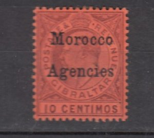 J26342  jlstamps 1903-5 great britain morocco mh #21 ovpt wmk 2