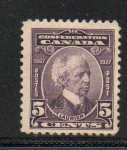 Canada Sc 144 1927 5c Laurier stamp mint NH