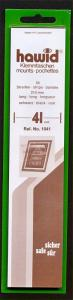 Hawid Stamp Mounts Size 41/210 BLACK Background Pack of 25