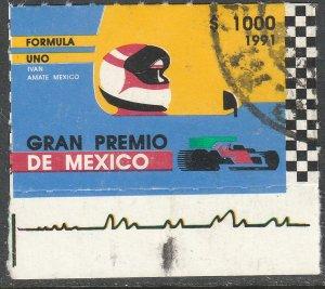 MEXICO 1697, Formula 1 Grand Prix BOTTOM SELVEDGE. Used. VF. (1286)