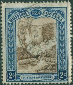 British Guiana 1898 SG217 2c brown and blue Kaipteur Falls FU