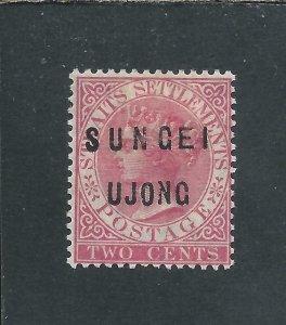 SUNGEI UJONG 1882-84 2c PALE ROSE MM SG 20 CAT £150