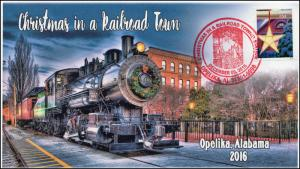 2016, 16-377, Christmas in a Railroad Town, Opelika AL, Train, Santa
