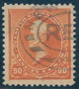 US Scott #229 Used, VF(J), PSE Cert (Graded 80J)