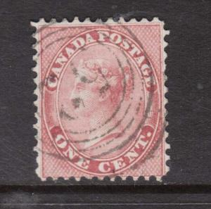 Canada #14 Used With 4 Ring 52 Clifton Cancel