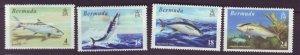 J22004 Jlstamps 1972 bermuda set mh #292-5 fish