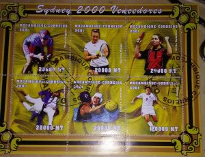 Into Sports then here is a high value sheet from Mozambique 2000 Sydney Oly