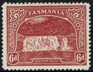 TASMANIA 1905 DILSTON FALLS 6D TYPO WMK CROWN/A PERF 12.5