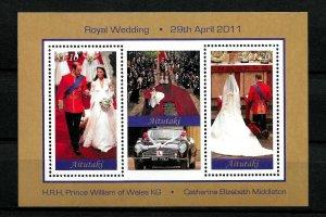 AITUTAKI - 2011 - ROYAL WEDDING - PRINCE WILLIAM - KATE MIDDLETON - MNH S/SHEET!