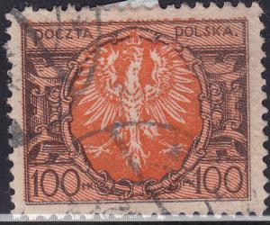 Poland 165 Polish Eagle 100Mk 1921