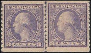 494 Mint,OG,NH... Line Pair... SCV $160.00