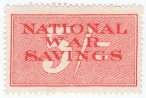 (I.B-CK) Cinderella Collection : National War Savings 5/- (no control)