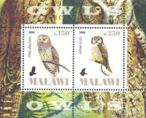 Malawi 2009 - Animals Fauna Birds Owls Bird Owl Animal Nature Stamps MNH (1)