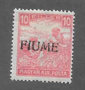 Fiume Scott 1a Mint 10f Overprint on Hungarian stamp 2015 CV $100.00