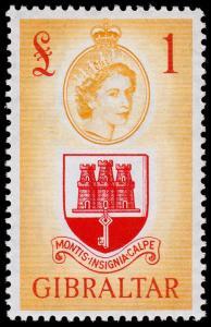 Gibraltar Scott 145 (1953) Mint NH VF, C
