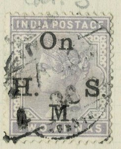india 1874-82 - ON.H.M.S OVERPRINT - QV 2AS   SG NO 051 USED