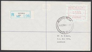 NEW ZEALAND 1986 $1.55 Frama Registered FDC ex Rotorua......................B284