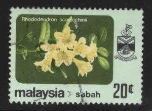 Malaysa Sabah  Scott 37 Used Flower stamp