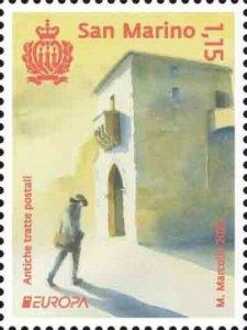 Stamps San Marino 2020. - Europe - ancient postal routes