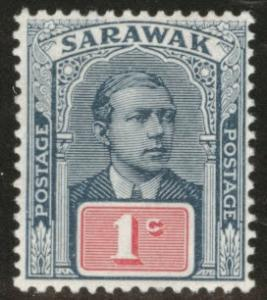 SARAWAK Scott 50 MH* 1910 no watermark CV $2.50
