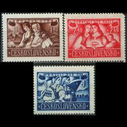 CZECHOSLOVAKIA 1946 - Scott# B160-2 Refugees Set of 3 NH