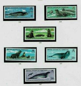 British Antarctic Territory: 1983, Seals, MNH set + Gutter Pairs