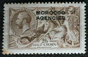 MOROCCO AGENCIES opt GB 1935-37 KGV 2/6 wmk Single Cypher MLH toning M2875