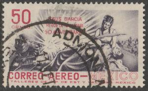 MEXICO C242, 50c Railroad Hero of Nacozari. Used. (1114)