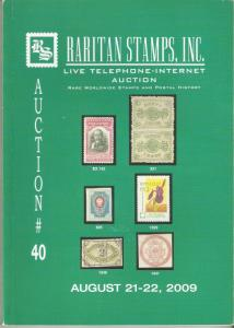 Raritan Catalog Auction #40,Aug 2009 Rare Russia, Errors & Worldwide Rarities