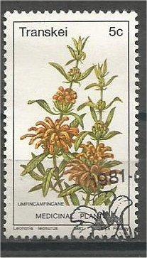 TRANSKEI, 1981, CTO 5c, Medicinal plants. Scott 32