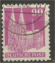 GERMANY, 1948, used 90pf rose lilac, Munich Scott 657a